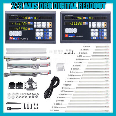 2/3 Axis Grating CNC Milling Digital Readout DRO Display TTL Linear Scale Lathe