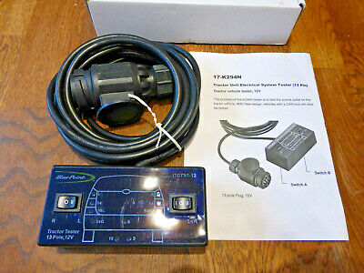 Blue-Point Tractor Towing Tester 13pin 12v  for Garages Workshop Tools Roll Cab