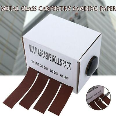 Abrasive Paper with Dispenser Drawable Emery Cloth Roll Carpentry Sand Paper