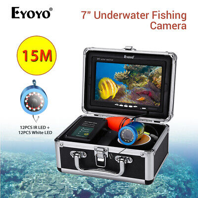 "Eyoyo 7"" Underwater Fish Finder Infrared & White LED Light Ice Fishing Camera"