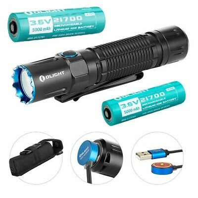 OLIGHT M2R PRO Warrior 1800 LM Rechargeable LED Flashlight w/ 2x 21700 Batteries
