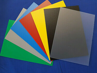 Coloured Plastic Sheet Selection Pk Textured finish 0.8mm thick A5, A4, A3 or A2