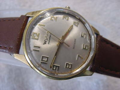 Vintage GOLD FD large antique Art Deco WYLER ARISTOCRAT mens watch