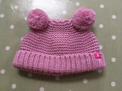 Joules Winter Baby Girl Christmas Pom Hat 0-6 Months Worn Once