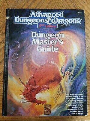 Advanced Dungeons & Dragons D&D 2nd Edition Dungeon Master's Guide #2100 HC 1989