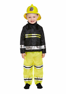 Toddler Fireman Costume 3 Years - Boys Girls Kids Nativity Play Book Week Outfit