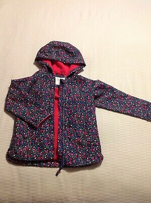 Mothercare Girls Lined Flowery Rain Coat Age 2-3 Excellent Condition
