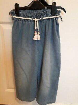 Wide Leg Trousers From M&S Age 8-9 Excellent Condition