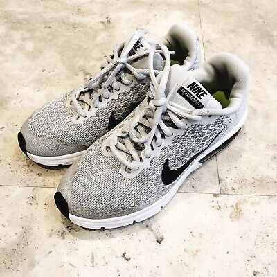 Boys Girls Unisex Womens Nike Air Max Sequent 2 UK Size 4 Grey Good Condition