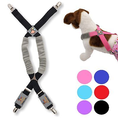 Dog Suspenders for Diapers Belly Bands Pet Apparel Clothes Stretch Small Large
