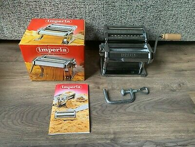 Imperia Pasta Machine- Stainless Steel Roller- Boxed- Made In Italy-Professional