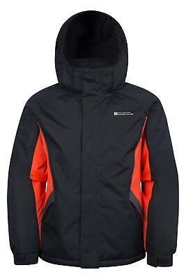 Mountain Warehouse Raptor Boys Ski Jacket Charcoal with Snow-Skirt for 7-8 Year