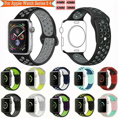 Sport Silicone WristStrap For Apple Watch iWatch Band SERIES 3 4 5 38/42/42/44MM