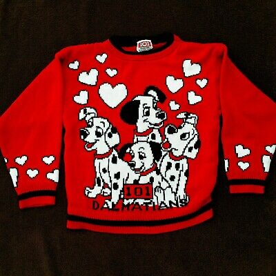 Vintage Disney 101 Dalmations Puppy Sweater Childs 10/12