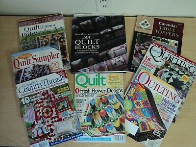 Lot of 10 Quilting Books and Magazines VGC Quilt Patterns