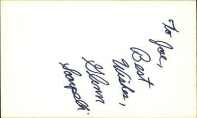 "GLENN SCARPELLI ONE DAY AT A TIME Signed 3""x5"" Index Card"