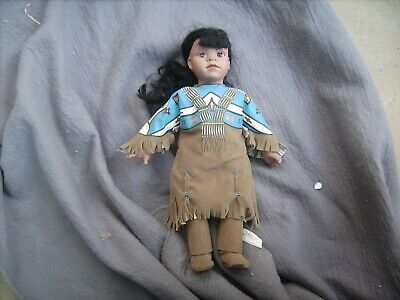 America Indian Maiden   Doll   Stands   16 Inches /41Cm Tall