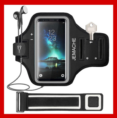Galaxy S10/S9/S8/S7 Edge Armband Water Resistant Gym Running Workout Arm Band AU