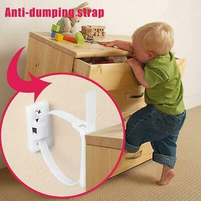 Furniture Anti Tip Strap Baby Proof Cabinet Wall Anchors Elastic Ropes Strap