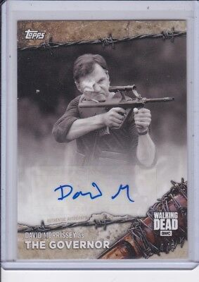 2017 Topps The Walking Dead # 6BW-A David Morrissey The Governor Autógrafo 4/5
