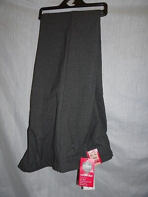 "M&S Girls Grey Slim Leg Zip Pocket School Trousers *Size 29""* BNWT"