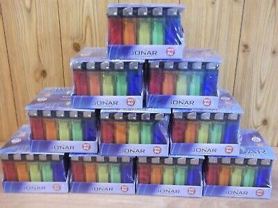 JOB LOT 500 X DISPOSABLE LIGHTERS.NEW IN DISPLAY BOXES 10p EACH RESELL MAKE £££s