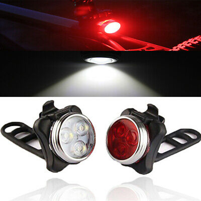 AU Rechargeable Bright LED Bike Lights Set- Headlight Taillight Combinations LED