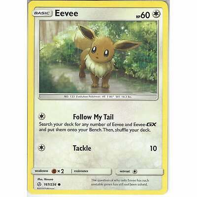 167/236 Eevee | Common Card | SM12 Cosmic Eclipse Pokemon Trading Card Game TCG