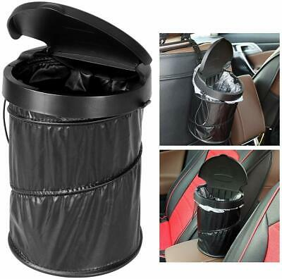 Portable Car Rubbish Bin. Waterproof Collapsible Pop-up Bin With Lid & 30 Liners
