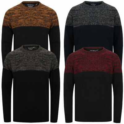 Kensington Eastside Men's Squirrel Knitted Jumper Crew Neck Sweater Pullover Top