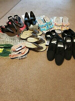 Job Lot 15 Pairs Ladies Womens  Flat Shoes.Various styles and various sizes.New.