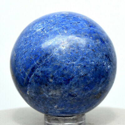 40mm Peruvian Blue Dumortierite Sphere Sparkling Natural Quartz Mineral Stone