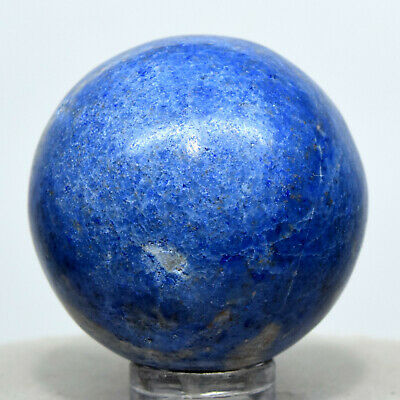 36mm Blue Dumortierite Sphere Natural Sparkling Quartz Crystal Stone Ball - Peru
