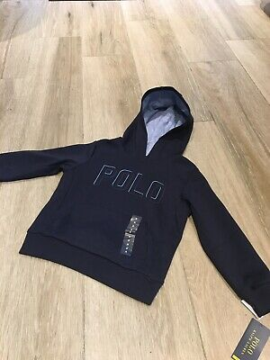 Polo Ralph Lauren Boys Hooded Top Navy Brand New With Tags RRP £79- Age 5 Navy
