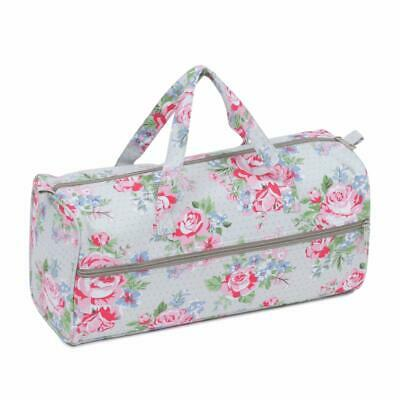 HobbyGift Knitting Bag Craft Bag Sewing Yarn Storage - Rose Design
