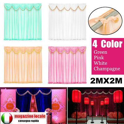 Removable 3X3M Wedding Party Backdrop Curtain Background Decor Draping Swags