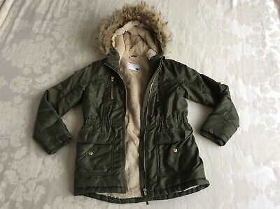 Nutmeg Girls Green Winter Coat 10-11 Years Good condition