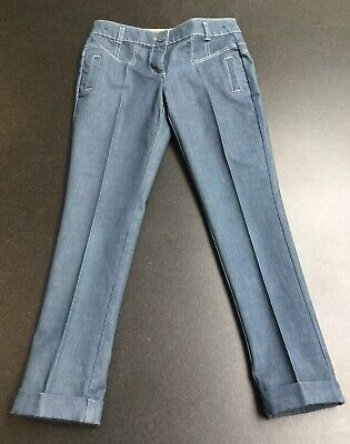 Next Girls Denim Smart Tailored Tapered Leg Jeans.  Age 7 Years.  Immaculate