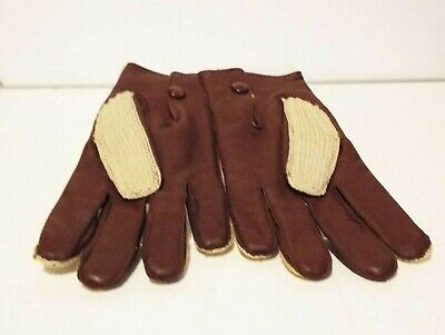 English Make Newey Brothers M L gloves lambskin wool Crochet  button