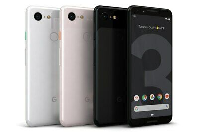 GOOGLE PIXEL 3 64GB - UNLOCKED - Just Black / Clearly White Smartphone