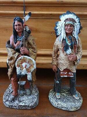 2 Original Monfort Indianer Figuren aus Colorado Native American Sioux