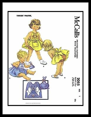 McCall/'s 2289 Sewing Pattern Vintage SMOCK Gathered Dress Frock GIRL TODDLER ~2~
