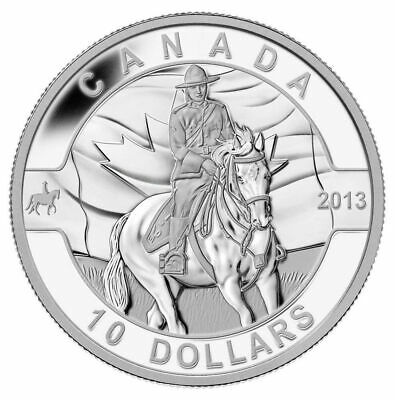 Canada: Royal Canadian Mounted Police - Pure Silver Coin 10$ 2013