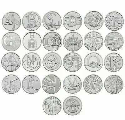 2018 A-Z 10p Coins Unc from Royal Mint Alphabet A to Z Ten Pence FULL SET
