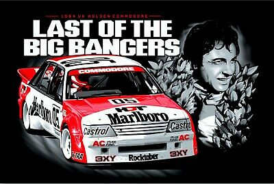 Peter Brock Portrait last of big bangers tin metal sign MAN CAVE brand new
