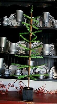 Primitive Christmas Large faux German feather tree