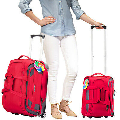 """Luggage Travel Set 20"""" & 16"""" Carry on + UnderSeat Lightweight Rolling Bag Red"""