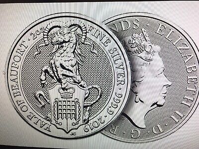 2019 2 oz £5 Great Britain Silver Queen's Beasts The Yale of Beaufort Coin