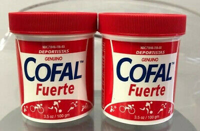 2 x COFAL FUERTE ROJO 3.5oz GRANDE FOR MUSCULAR PAIN, ARTHRITIS, BACK PAIN