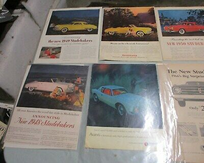 Studebaker & Avanti  Ads  - Set Of 14